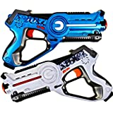 Laser Tag Set for Kids Outdoor Games and Indoor Toys. Boys and Girls Birthday Party Set - (2) Lazer Tag Blasters