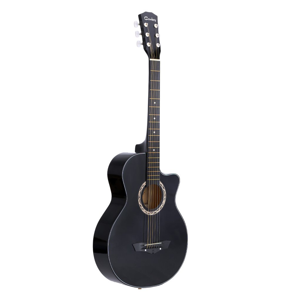 ammoon 38 Acoustic Folk 6-String Guitar for Beginners Students Gift