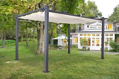 Jet-Line Luxor - Pérgola para jardín (4 x 3 m), color gris antracita, beige o antracita, Anthrazit-Beige: Amazon.es: Jardín