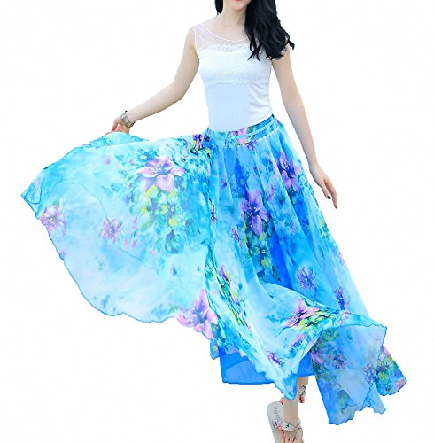 Afibi Women Full/Ankle Length Blending Maxi Chiffon Long