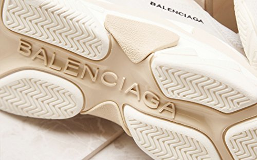 Sneakers Balenciaga White BestVIPM Gymnastique S Shoes Balenciaga Fashion de New 2018 Chaussures Homme Femme Triple SwxXAt