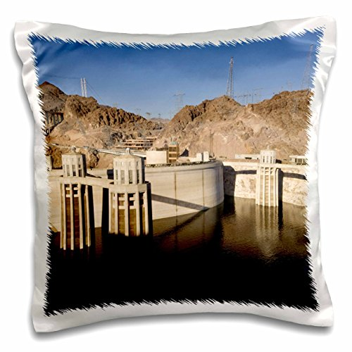 Lake Level Mead Water (Danita Delimont - Dams - Low water levels at the Hoover Dam, Lake Mead, NV - US29 MPR0048 - Maresa Pryor - 16x16 inch Pillow Case (pc_92240_1))