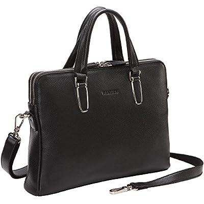 86b2665aa551 Banuce Slim Leather Briefcase for Women Messenger Bag Tote Laptop Handbag  durable modeling