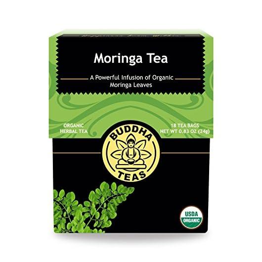 Organic Moringa Tea – Kosher, Caffeine-Free, GMO-Free – 18 Bleach-Free Tea Bags