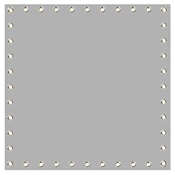 Cablematic - Tela de proyección de 100x100cm 1:1 PVC gris para ...