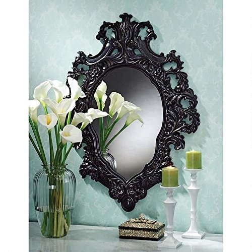 Design Toscano Madame Antoinette Ebony Salon Mirror