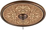 Antiquity Clay 24'' Wide Bronze Finish Ceiling Medallion