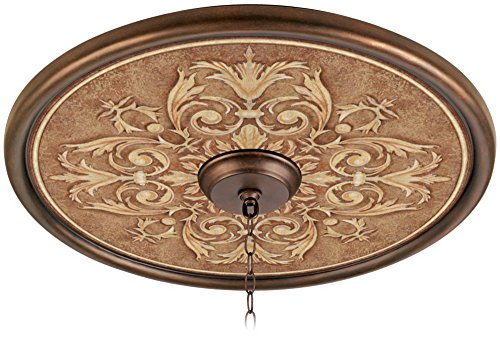 Antiquity Clay 24'' Wide Bronze Finish Ceiling Medallion by Universal Lighting and Decor