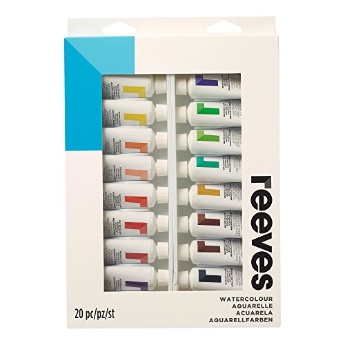 (Winsor & Newton Watercolor Paint 22ml Tubes, Set of 20,)