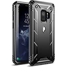 Galaxy S9 Case, Poetic Revolution [360 Degree Protection] Full-Body Rugged Heavy Duty Case with [Built-in-Screen Protector] for Samsung Galaxy S9 Black