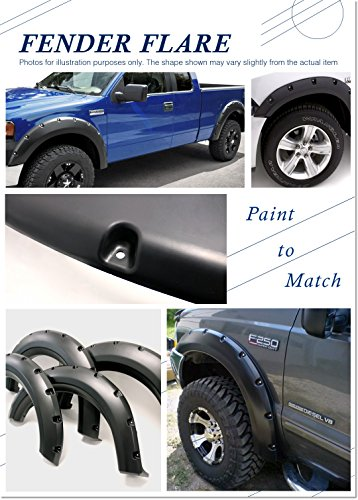 (Magnus FF-SF041B Pocket Riveted Precision Molding Fender Flare, 4 Piece for Ford F-150)