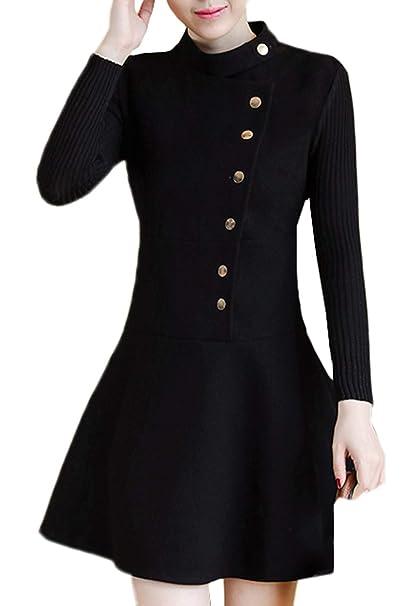 Scothen Vestidos de Punto de una línea de Mujer Vestidos de Punto Tops de Jersey de