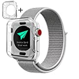 Nylon Apple Watch Band Sport Loop 38mm, Soft Lightweight Breathable woven Strap Hook and Fastener Adjustable Closure Wrist Replacment Smart watch Band (Nylon Seashell Sport Loop, 38mm)