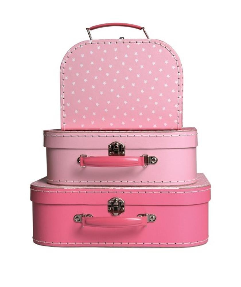 Egmont Toys 3-tlg. Kofferset, pink m. Sternen