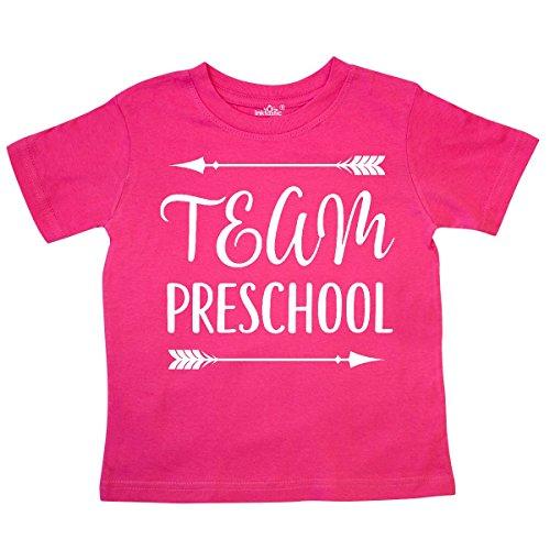 inktastic - Team Preschool Back to School Toddler T-Shirt 3T Hot Pink (Toddler School Tee)