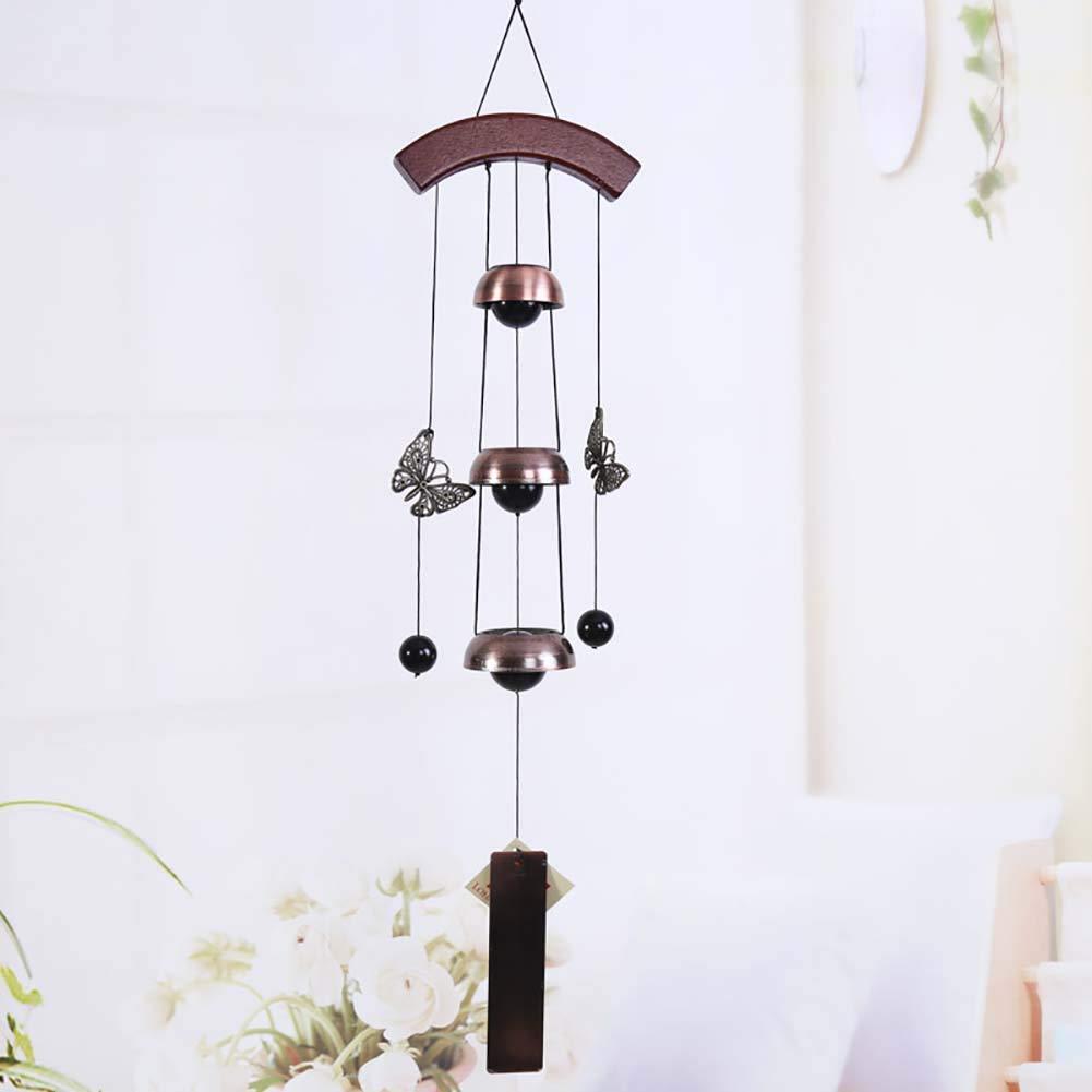 Carillon di Vento retrò Pura Campane Fatte a Mano Giardino di iarda Indoor Outdoor Living Hanging Ornament Gift Portare buona Fortuna per la Famiglia,F