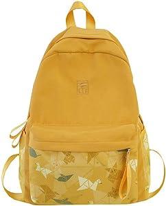 IQQI Backpacks Yellow Hiking Daypack Waterproof School Bag Backpack for School,Camping, Hiking, Vacation.