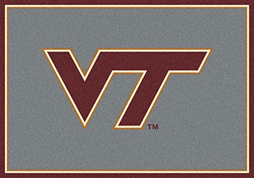 NCAA Team Spirit Door Mat - Virginia Tech Hokies ''VT'', 44'' x 68'', Multi by Millilken