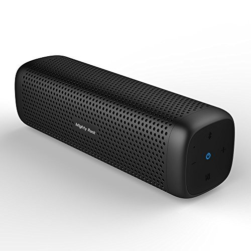 Bluetooth Speakers, Mighty Rock 6110 Portable Wireless Speaker 4.1 with 16W Enhanced Bass and Built-in Microphone/Strong Aluminum Alloy Shell/12Hour Playtime/TF Card Support for iphone/Tablet/Echo dot