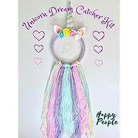 Full Size Make Your Own Unicorn Dream Catcher Kit Kids Craft Gifts for girls