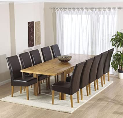 Awesome Normandy 180 Solid Oak Extending Dining Table Squirreltailoven Fun Painted Chair Ideas Images Squirreltailovenorg