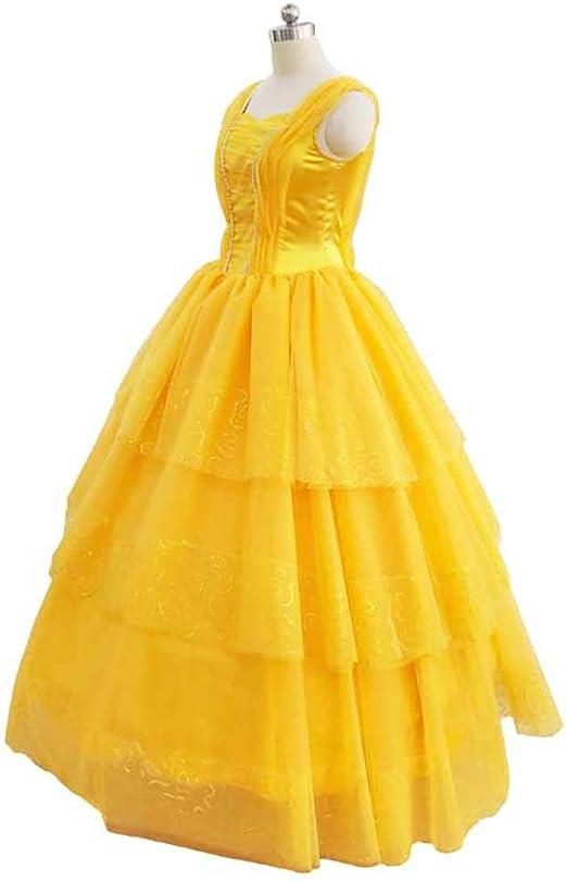 Evin Disfraz la Bella y la Bestia Princesa Bella Vestido de ...