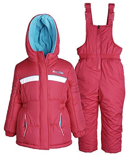 Pink Platinum Baby Girls Down Alternative Snowboard Puffer Coat and Snowpants - Fuchsia (12 Months)