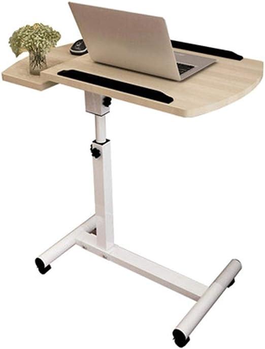 XLEVE Mesa Lateral Puede Mover TV Tray Table, Ajustable de bambú ...