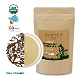 Jarved 100% Organic Orthodox Whole Loose Leaf Natural Handmade Assam Green Tea: Single Blend, Premium Grade, Fair Trade, USDA Certified, (45 Cups, 3.5oz) in Eco Friendly ziplock- Farm to Cup