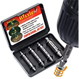 Damaged Screw Extractor Set - Remover Set by Aisxle - Easily Remove Stripped or Damaged Screws - Set of 4 Stripped Screw Removers