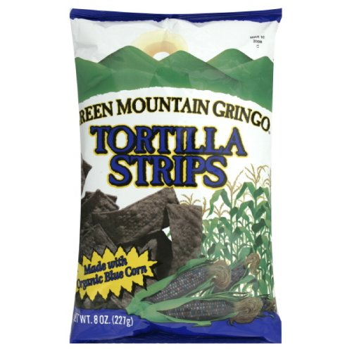 - Green Mountain Gringo Blue Corn Tortilla Strips, Gluten Free, 8-Ounce (Pack of 6)