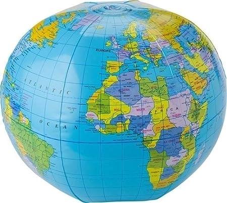 hinchable Agua Ball globo terráqueo: Amazon.es: Oficina y ...