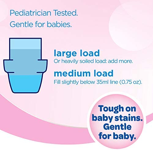 51dy7be2o2L. AC - All Liquid Laundry Detergent, Gentle For Baby, 2X Concentrated, 100 Loads