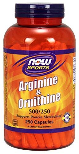 NOW Sports L-Arginine & Ornithine 500/250 mg,250 Capsules