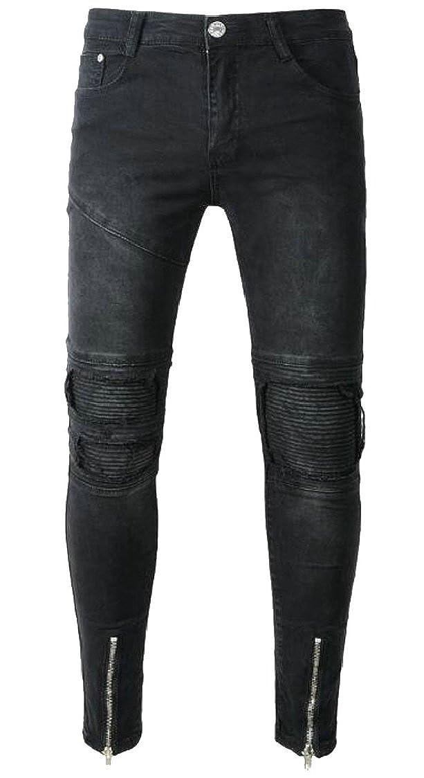 1 jxfd Men Ripped Slim Straight Biker Jeans Denim Denim Denim Pants Jeans d747d2