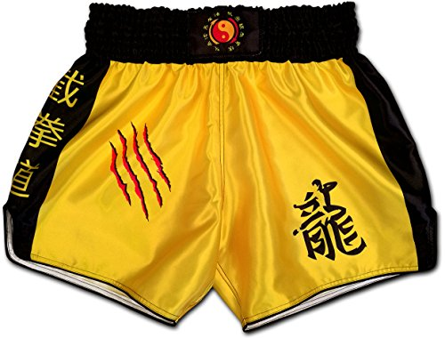 Muay Thai Shorts Kickboxing Martial Arts Combat Fight MMA UFC Boxer Boxing Trunks (M, JEET Kune DO)