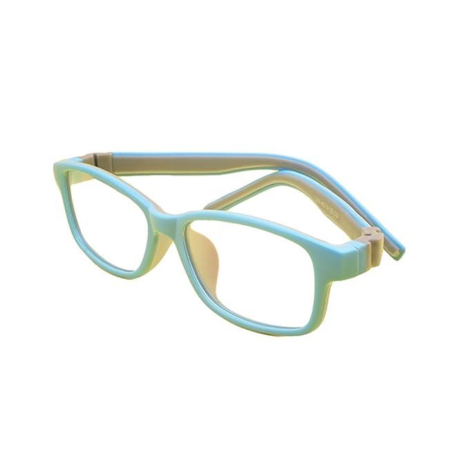e53244048bdae Juleya Kinder Gläser Rahmen - Silikon - Professionel Kinder Brillen Clear  Lens Retro Reading Eyewear für Mädchen Jungen: Amazon.de: Bekleidung