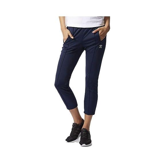 Pantalon cigarette Marine Femme Adidas  Amazon.fr  Vêtements et ... c3f66a8d41a