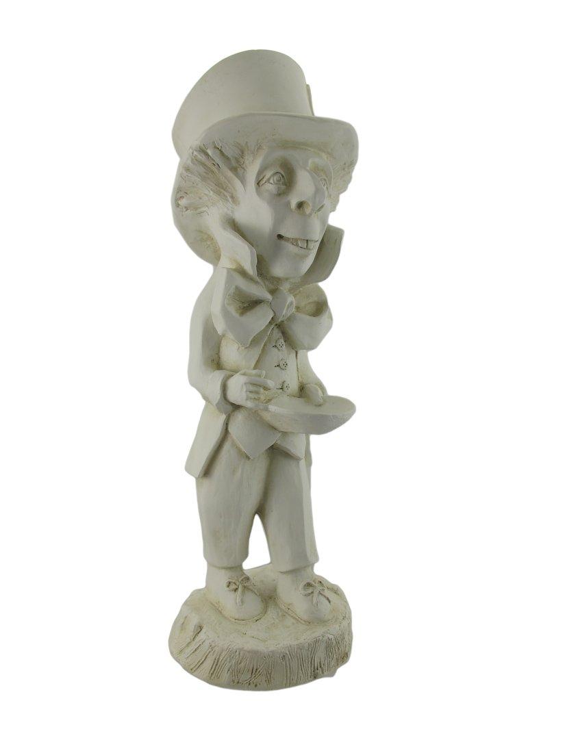 Museum White Alice in Wonderland Mad Hatter Garden Patio Statue