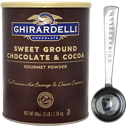 Ghirardelli - Sweet Ground Chocolate & Cocoa Gourmet Powder 3 lbs - with Exclusive 1.5 Tbsp Measuring Spoon (Ground Chocolate Hot Chocolate)