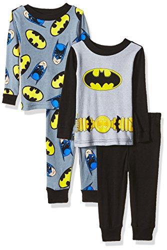 Batman Baby Boys' 4-Piece Cotton Pajama Set at Gotham City Store