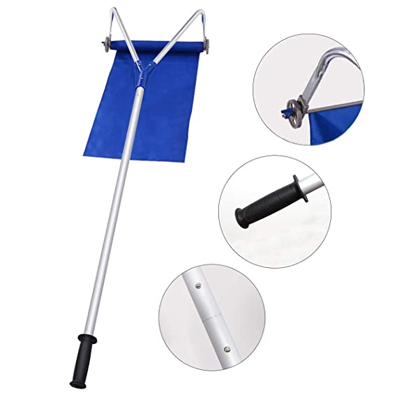 Amazon.com: CDFHWL Snow Removal Tool, Roof Sled Removal Tool 20 Feet, Roller Oxford Snow Shovel Adjustable Telescopic Handle: Sports & Outdoors