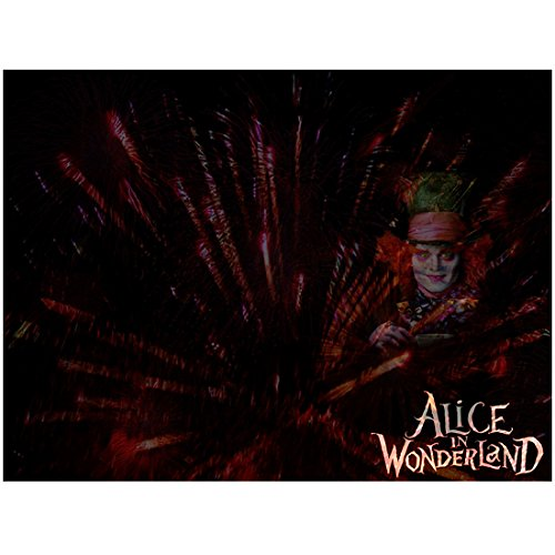(Alice Through the Looking Glass 8x10 Photo Johnny Depp as Mad Hatter Off Center of Pic to Left)