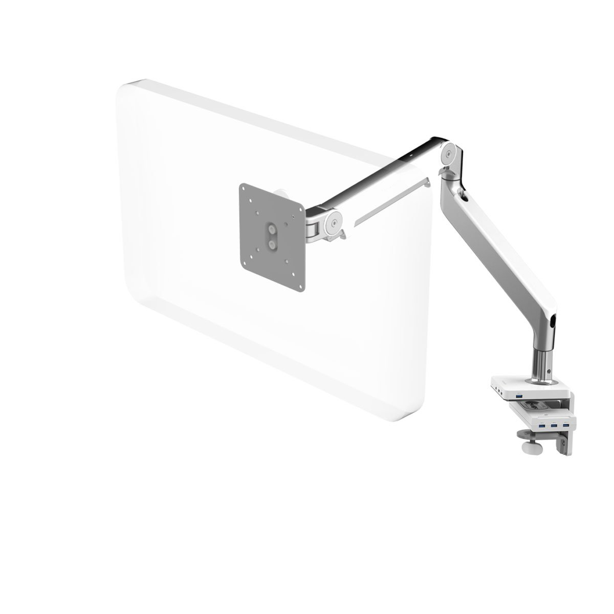 Amazon com: HumanScale M2 Monitor Arm with M/Connect USB 3 0
