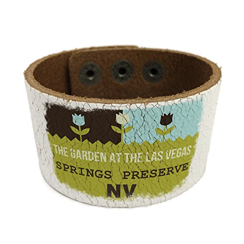 NEONBLOND US Gardens The Garden at the Las Vegas Springs Preserve - NV Leather Cuff unisex Women, Men's Bangle Bracelet