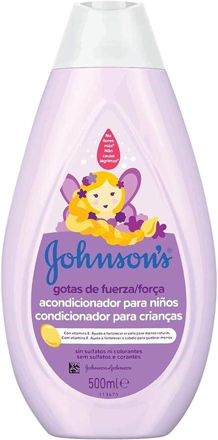 Johnsons Baby Gotas de Fuerza Acondicionador para Niños, Especialmente Diseñado para Ayudar a Fortalecer el Cabello - 500 ml: Amazon.es: Belleza