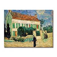 White House At Night by Vincent van Gogh, 18x24-Inch Canvas Wall Art