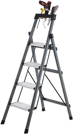 GY Escalera Taburete Plegable Espina de Pescado Tubo de Acero Grueso Interior Escalera de Hierro Escalada Escalera de ingeniería de Pedal Alto y Ancho Gris, 129X44X80cm (Size : 129X44X80cm): Amazon.es: Hogar