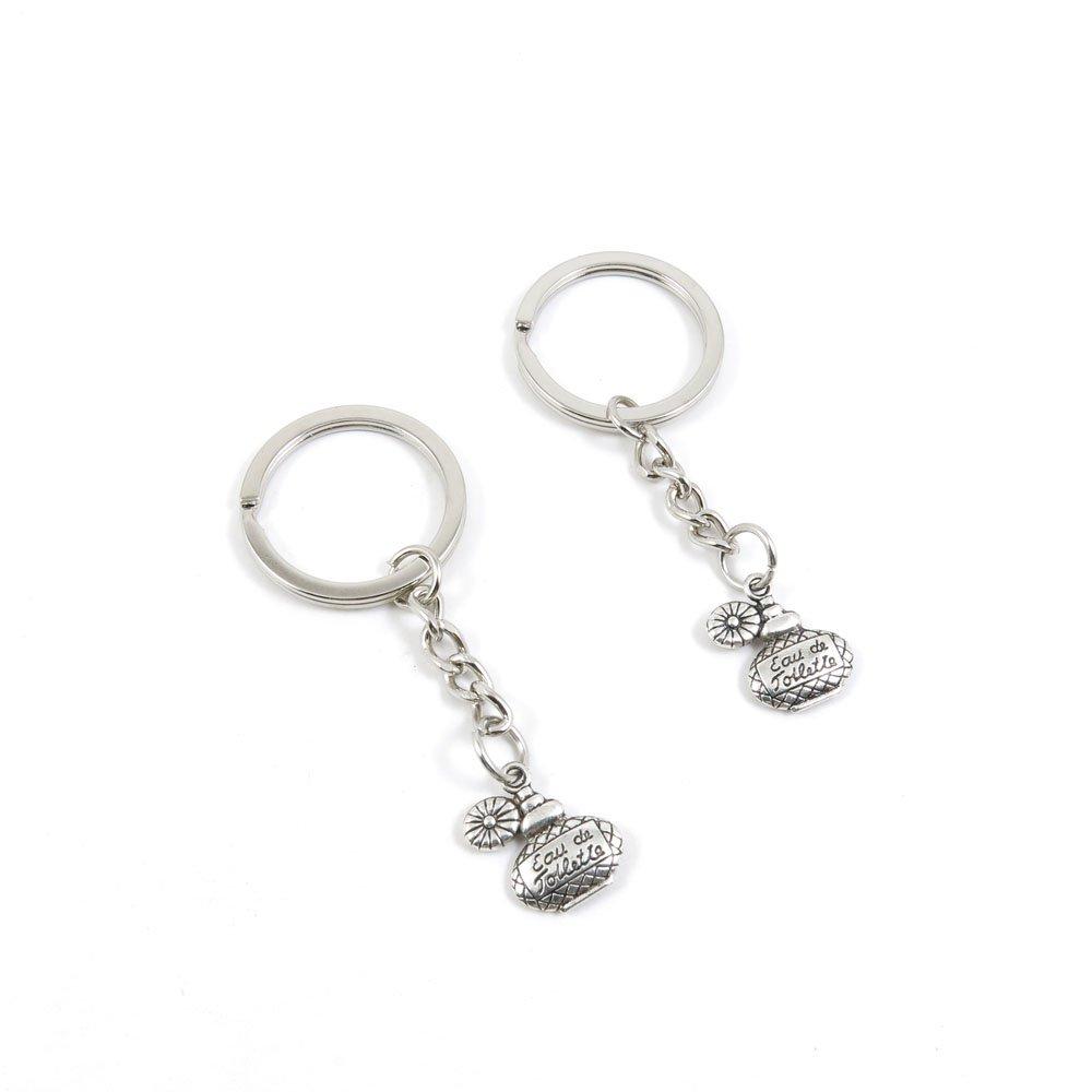 100 Pieces Keychain Door Car Key Chain Tags Keyring Ring Chain Keychain Supplies Antique Silver Tone Wholesale Bulk Lots W6NN8 Perfume Flagon