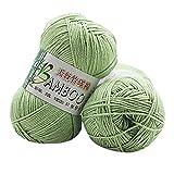 Clearance Sale! Yarns for Knitting Crochet Craft,KFSO Bamboo Cotton Yarn - Hand Knitting Knicker Yarn Crochet Soft Scarf Sweater Hat Yarn Knitwear Wool (D)